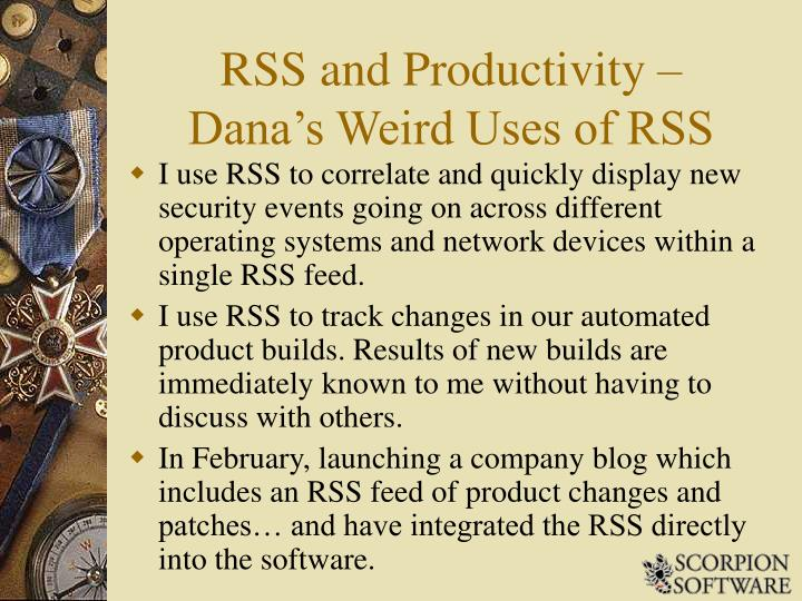 RSS and Productivity –