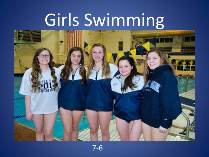 Girls Swimming