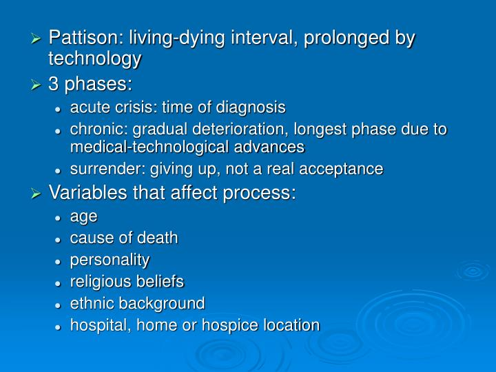 case study of kubler ross stages of death Elisabeth kubler-ross was a 20th century psychiatrist who pioneered the study of grief and developed a stage-based model that outlined the feelings dying people experience elisabeth kubler-ross.