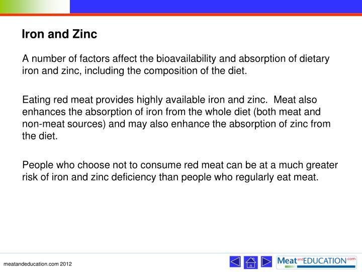 Iron and Zinc