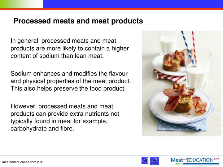 Processed meats and meat products