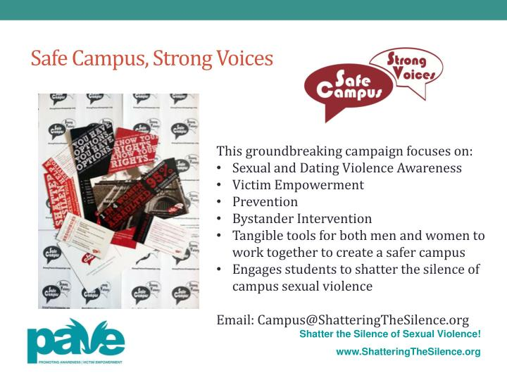 types of campus violence Learn the signs of dating violence and abuse and how to other types of violence and abuse against creating a culture of consent on your campus healthy.