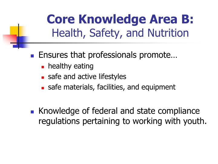 Core Knowledge Area B: