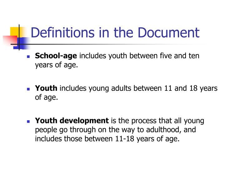 Definitions in the Document