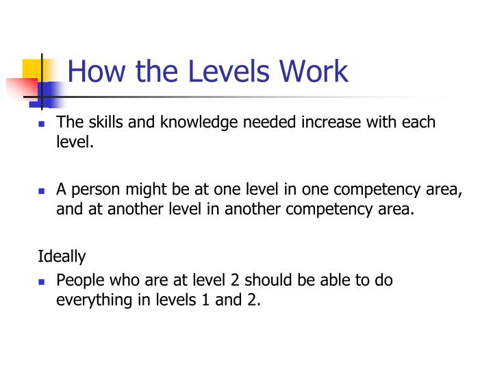 How the Levels Work