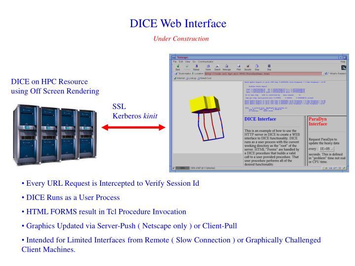 DICE Web Interface