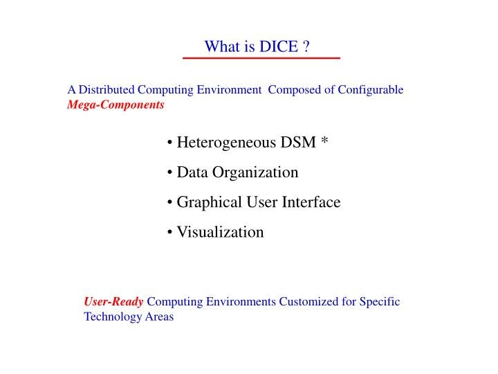 What is DICE ?