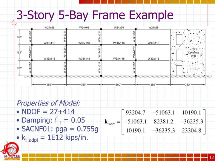 3-Story 5-Bay Frame Example