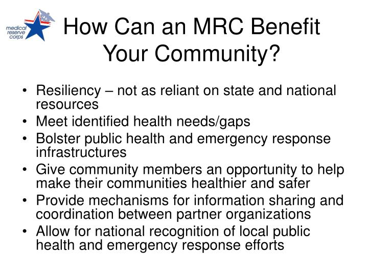 How Can an MRC Benefit Your Community?