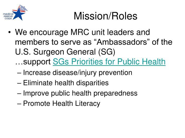 Mission/Roles