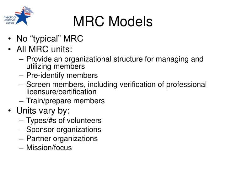 MRC Models