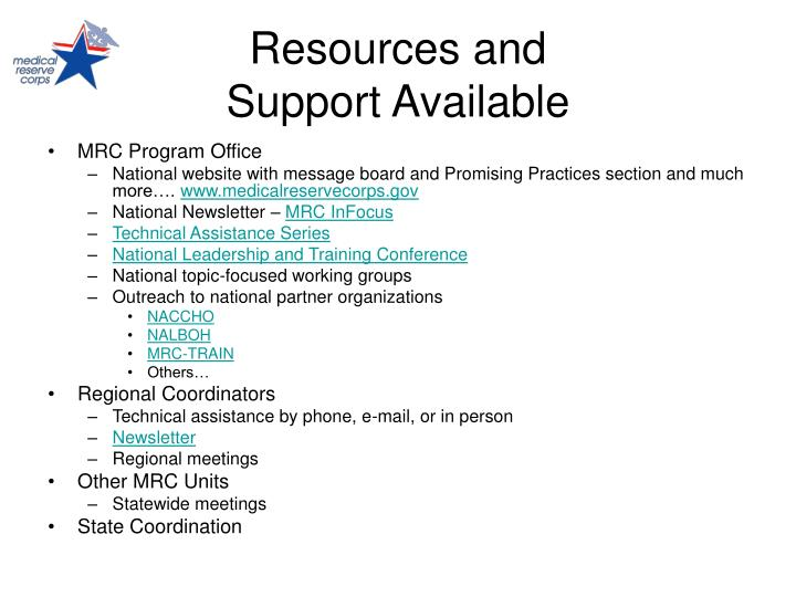 Resources and