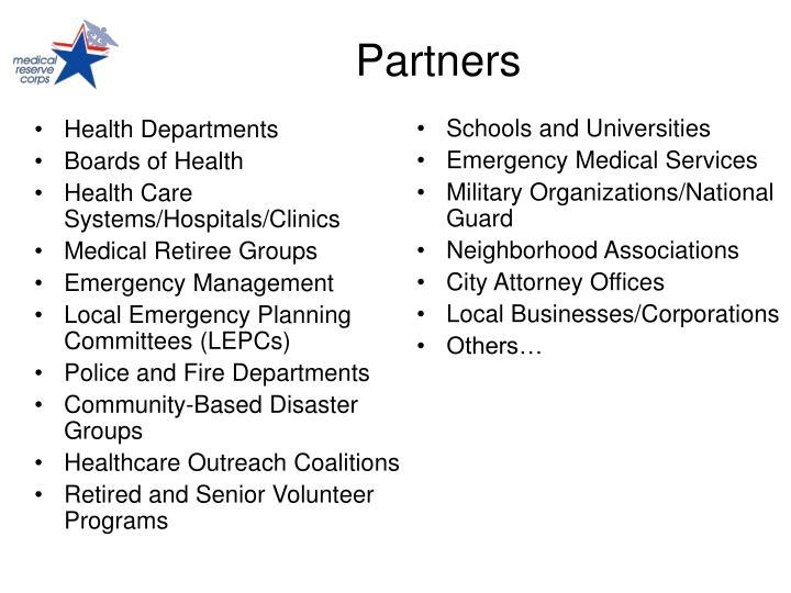 Health Departments