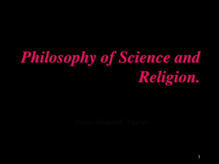 philosophy of science and religion n.