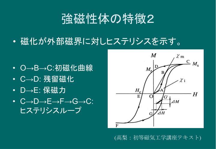 強磁性体の特徴2