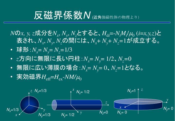 反磁界係数