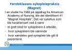 f rsteklasses sykepleiepraksis magnet
