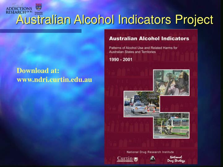 Australian alcohol indicators project