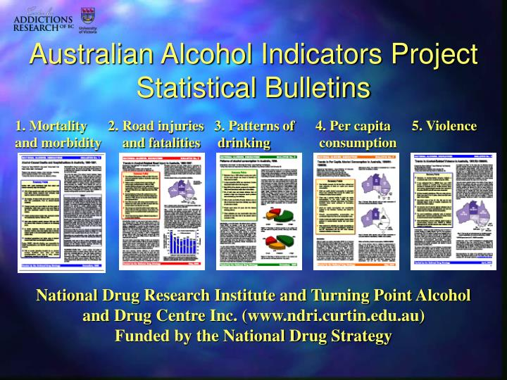Australian alcohol indicators project statistical bulletins
