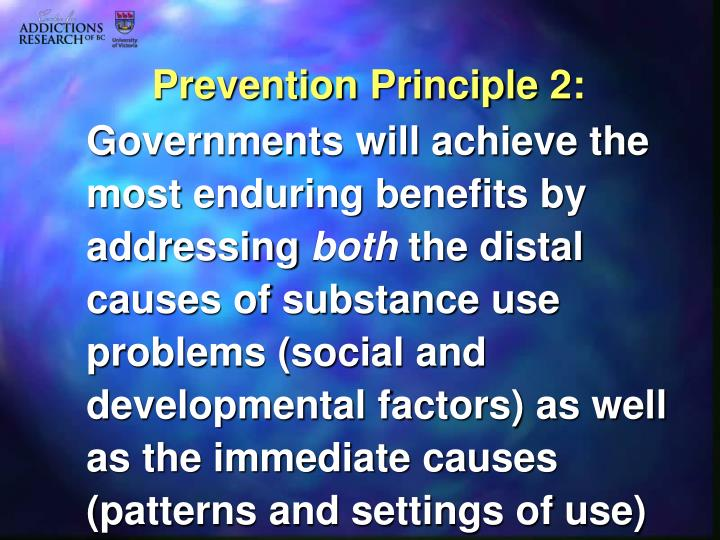 Prevention Principle 2:
