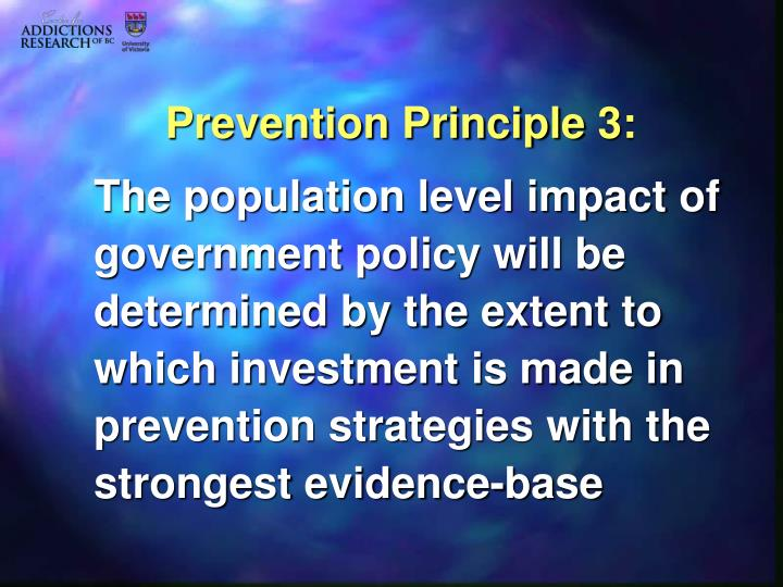 Prevention Principle 3: