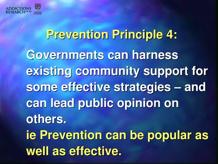Prevention Principle 4: