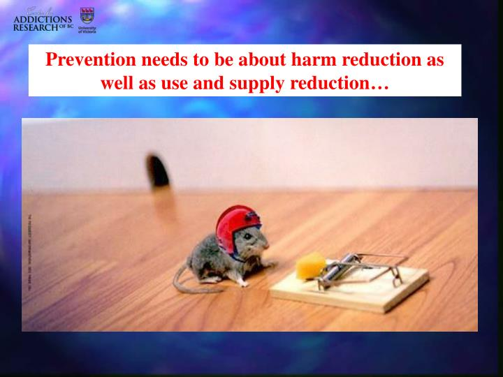 Prevention needs to be about harm reduction as well as use and supply reduction…