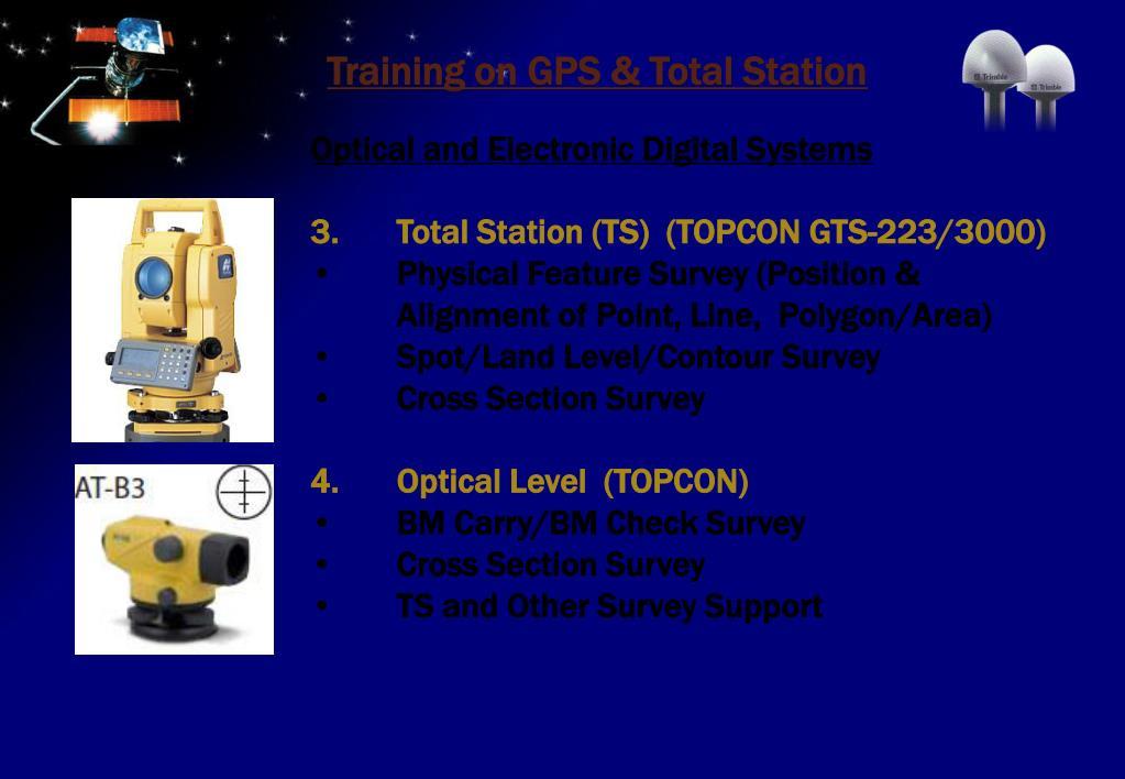 PPT - Training program on GPS & GPS Based Survey Techniques