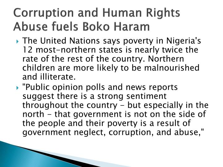 Corruption and Human Rights Abuse fuels
