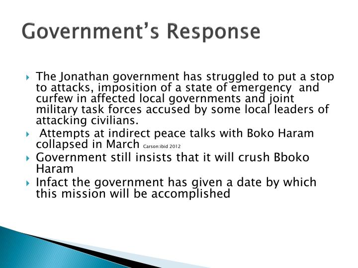 Government's Response