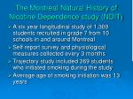 the montreal natural history of nicotine dependence study ndit