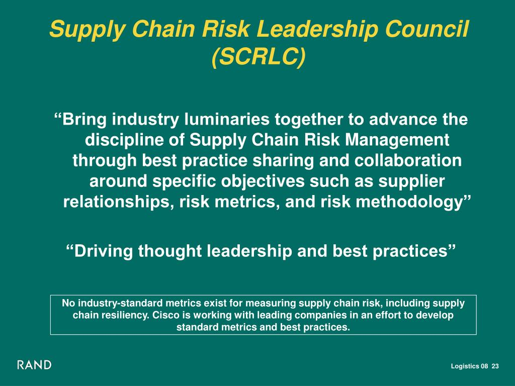 PPT - Overview of RAND's Supply Chain Management Research