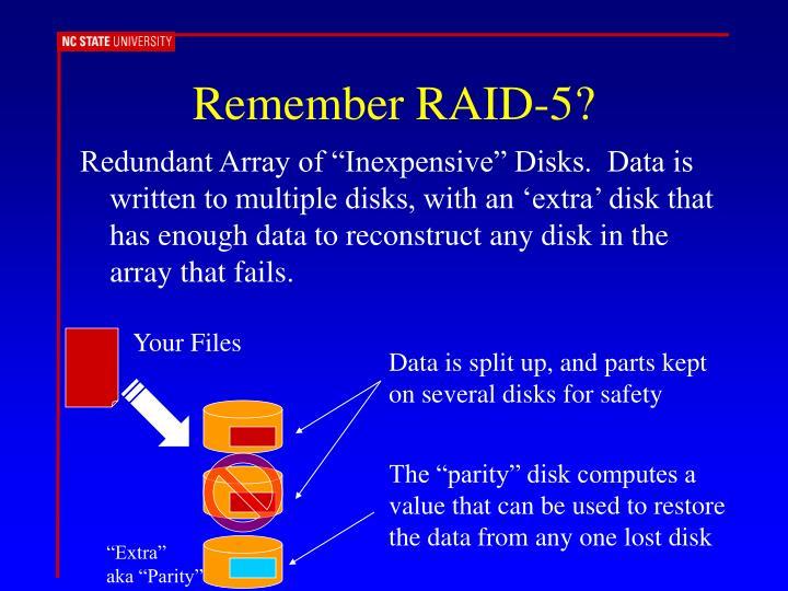 Remember RAID-5?