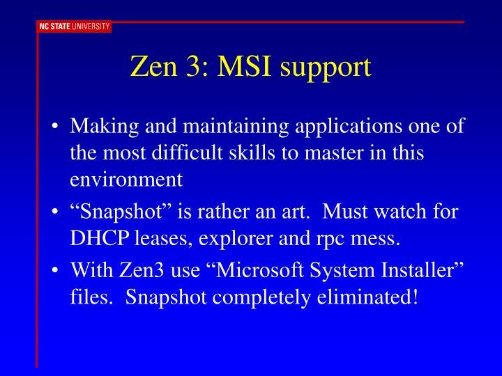 Zen 3: MSI support