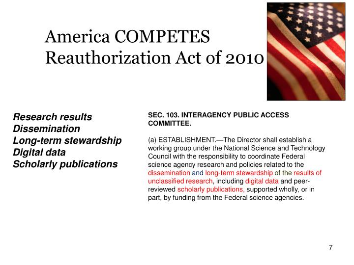 America COMPETES Reauthorization Act of 2010