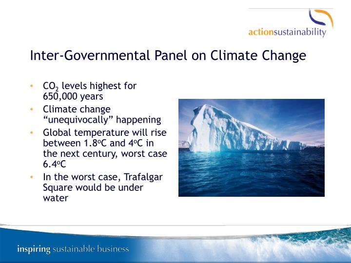 Inter-Governmental Panel on Climate Change
