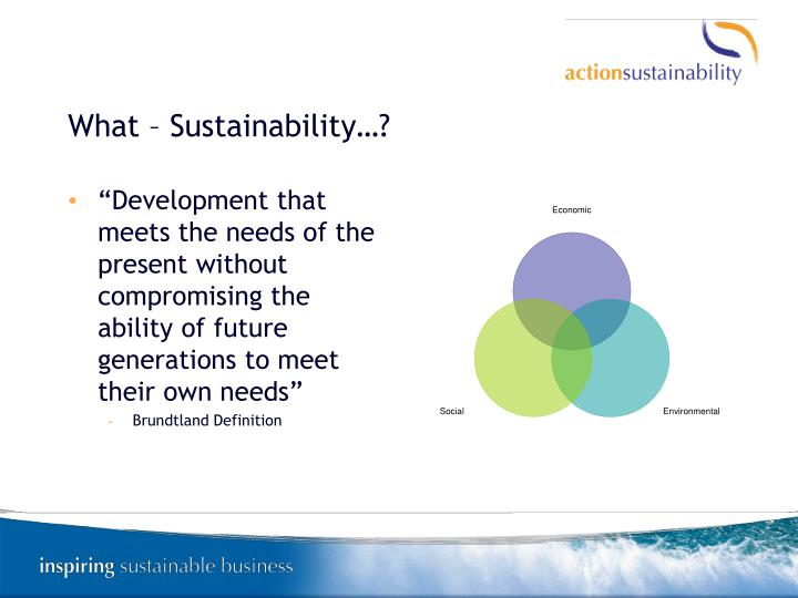 What – Sustainability…?
