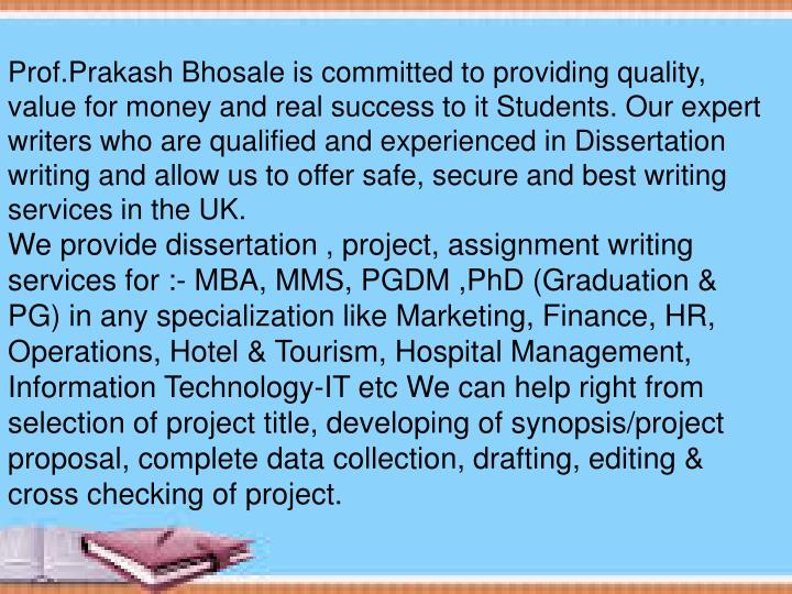Prof.Prakash Bhosale is committed to providing quality, value for money and real success to it Stude...