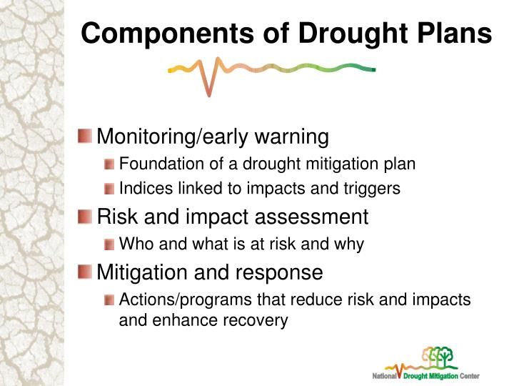 Components of Drought Plans