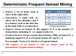deterministic frequent itemset mining