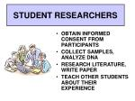student researchers1