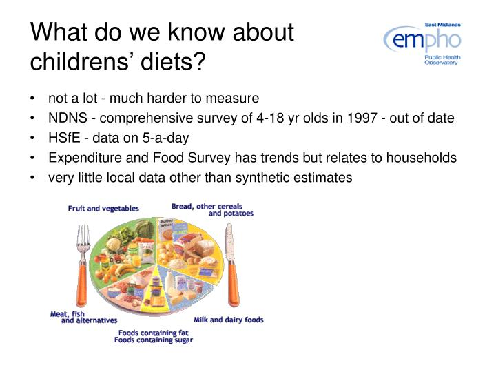 What do we know about childrens' diets?