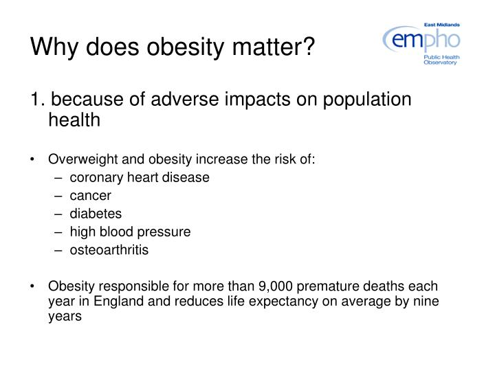 Why does obesity matter