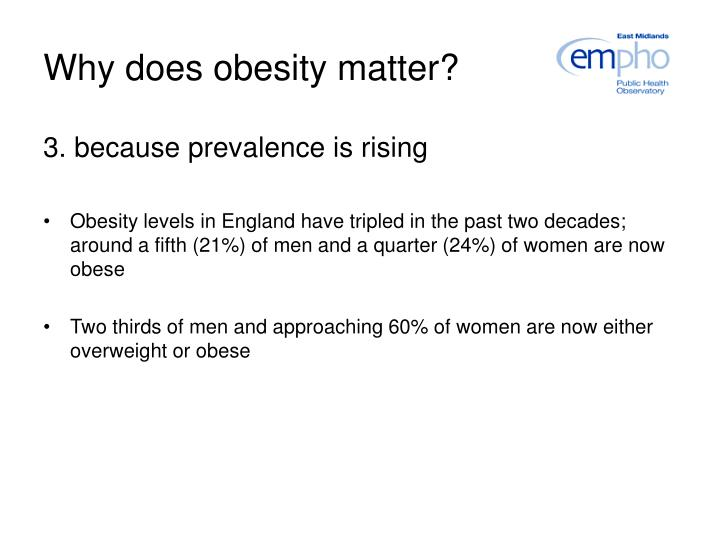 Why does obesity matter?
