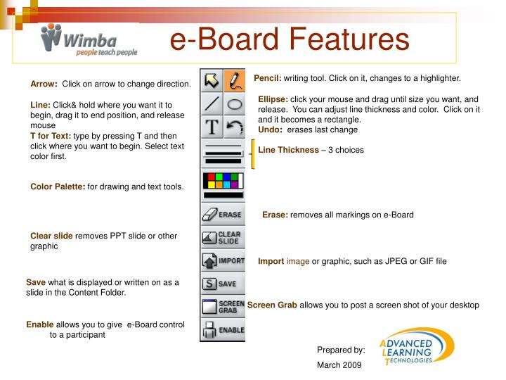 PPT - e-Board Features PowerPoint Presentation - ID:4417224
