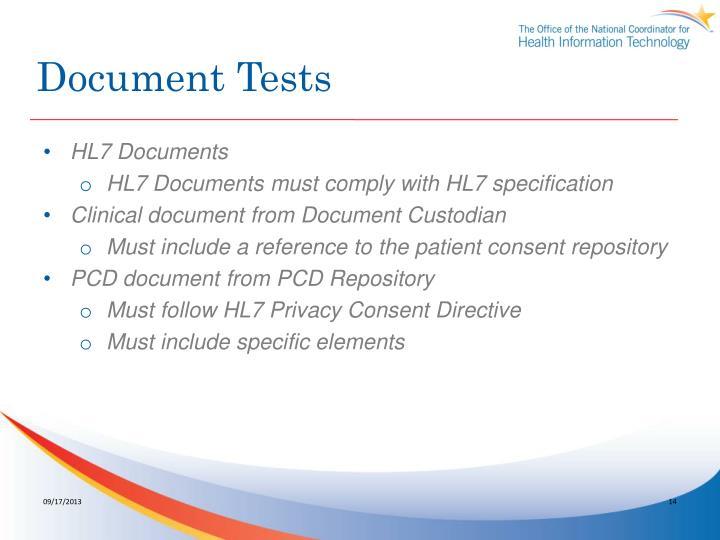 Document Tests