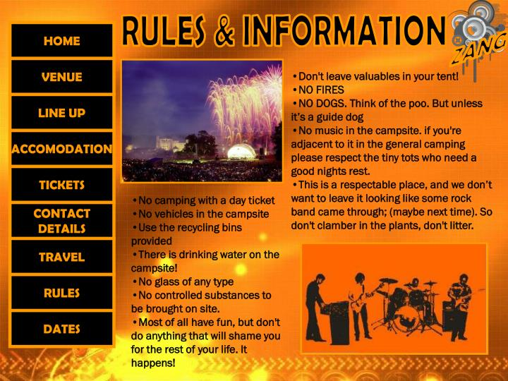 RULES & INFORMATION