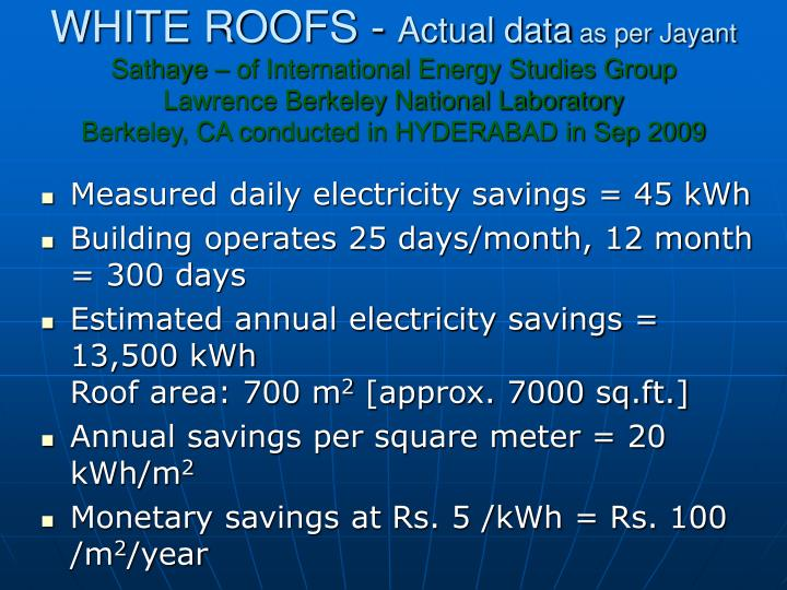 WHITE ROOFS -