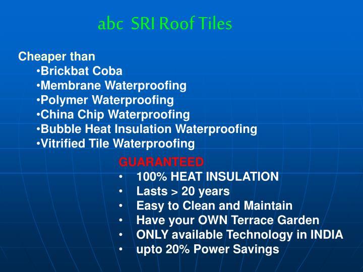 abc  SRI Roof Tiles