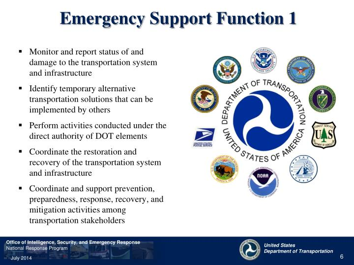 Emergency Support Function 1